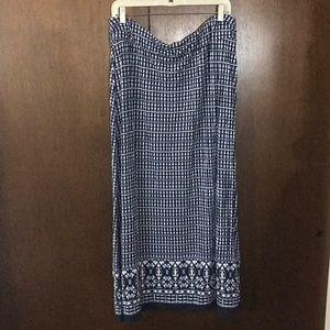 Liz Claiborne navy tie dye maxi skirt- XL